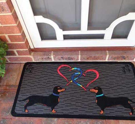 Two Rainbow Hearts